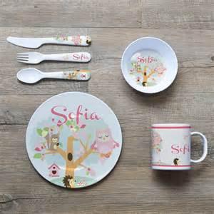 Dining Room Plate Sets by Personalised Melamine Kids Dinner Set Bowl Plate Mug