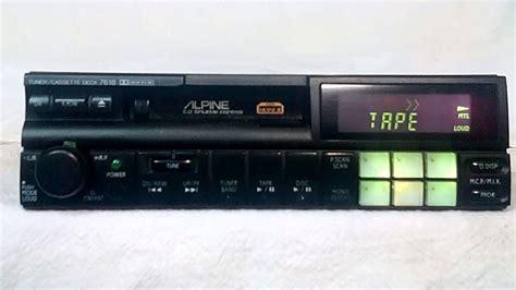 cassette car stereo vintage alpine 7618 am fm cassette car stereo