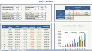 401k calculator excel template 401k calculator retirement