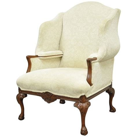 oversized armchairs for sale 20th century oversized carved mahogany chippendale style