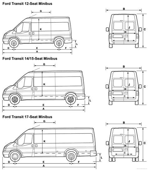 ford transit panel van dimensions