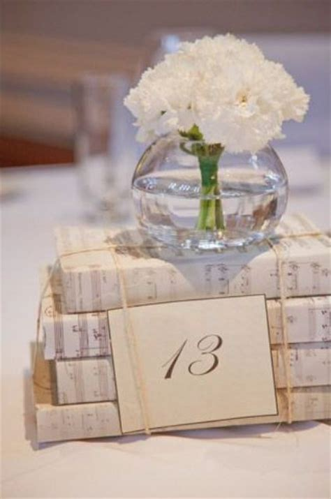 24 simple and book wedding centerpieces weddingomania