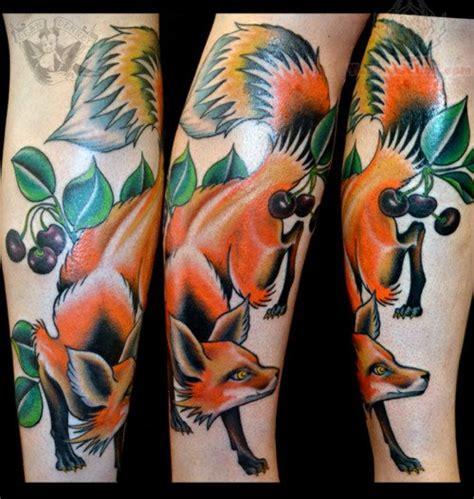 traditional fox tattoo american traditional fox