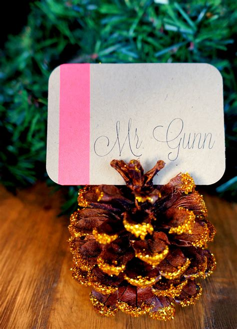 6 pc pine cone place card holder set pine cone place holder mary lauren
