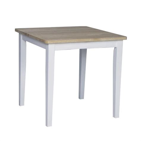 Square Casual Dining Table In White And Natural Finish Casual Dining Table And Chairs