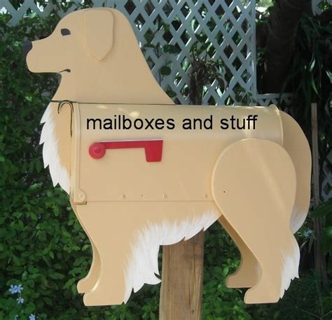 golden retriever stuff golden retriever mailbox by mailboxes and stuff