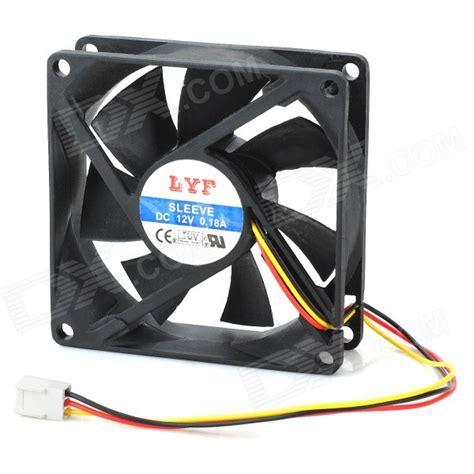 Fan Casing 8cm Netcooler 3 pin computer pc cooling cooler fan black 8 8cm free shipping dealextreme
