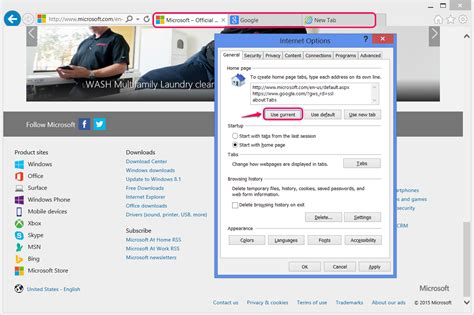 how to set a homepage in explorer techwalla