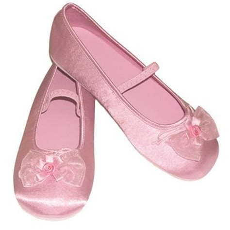 pink satin slippers bridesmaid flowergirl or