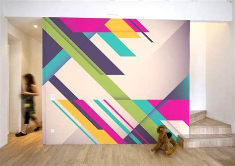 geometric 80s style wall mirror80