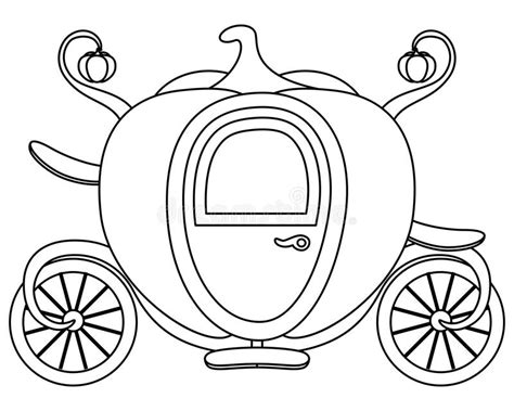 pumpkin carriage coloring page coloring pumpkin cinderella s carriage stock vector