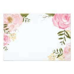 blank floral invitations announcements zazzle