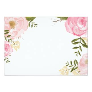 flower invitation template blank floral invitations announcements zazzle
