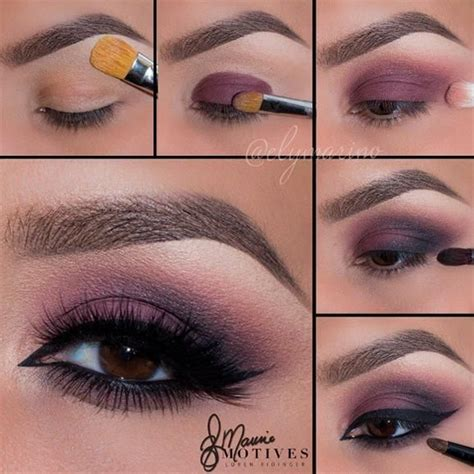 eyeshadow tutorial plum matte purple eye makeup pictorial tutorial pinterest