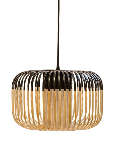Bamboo Pendant L by Bamboo Light S Outdoor Pendant H 23 X 216 35 Cm Black