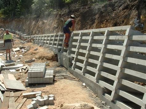 Concrete Crib Retaining Walls by Retaining Solutions Precast Concrete Crib Retaining Walls