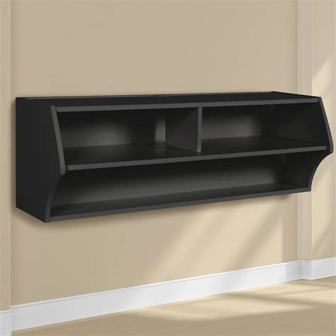 wall mounted stereo cabinet wall mounted audio video console tv stand black finish