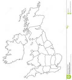 Britain Counties Outline Map by Outline Map Of Great Britain Stock Photos Image 18378173