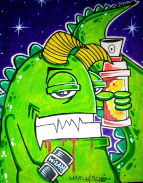 graffiti wall graffiti sticker characters  wizard
