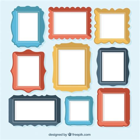 design photo frame editor collection of colorful flat frames vector free download