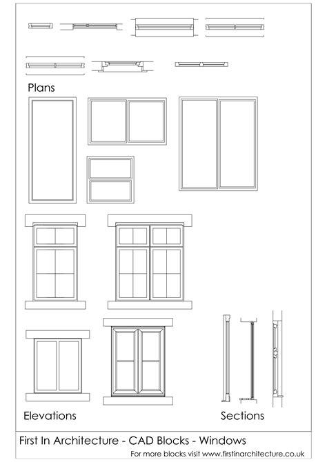 autocad tutorial windows cad blocks windows 01 first in architecture
