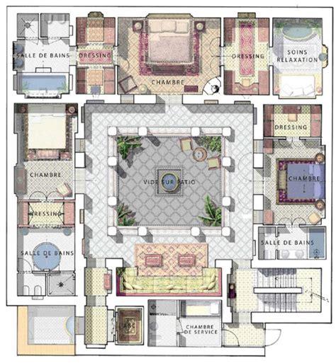 maison marocaine avec patio premier 233 tage plan en 2019 maison avec