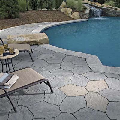 Patio Paver Styles Cool Pool Surround Concrete Paver Styles This House