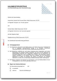 wohnung untervermieten vertrag hausmeistervertrag mit werkswohnung und mietvertrag de