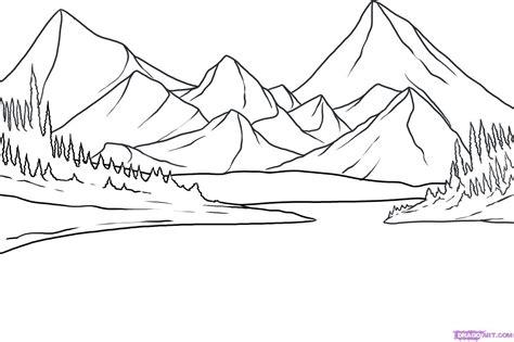 buat gambar gunung