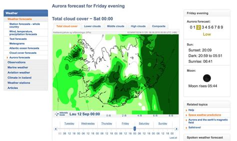 northern lights forecast how to read the northern lights forecast in iceland what