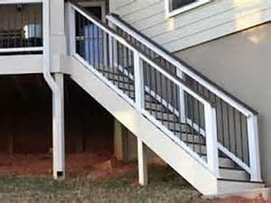Trex Stair Railing how to amp repair trex decking stairs stair rail stair