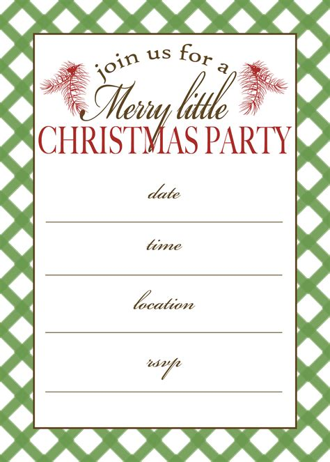 7 best images of free printable christmas invitation
