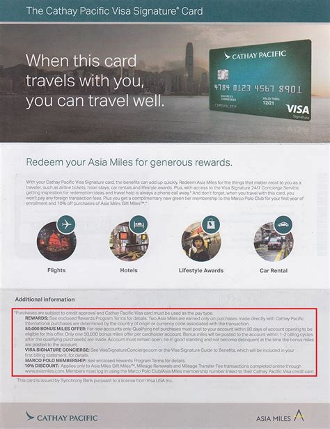 Credit Card Welcome Letter Cathay Pacific Credit Card Letter Front 1