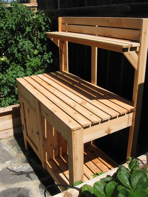potting bench with cabinet potting bench with cabinet gardens インテリア
