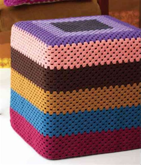 ottoman cover pattern 20 things you can do with a granny square