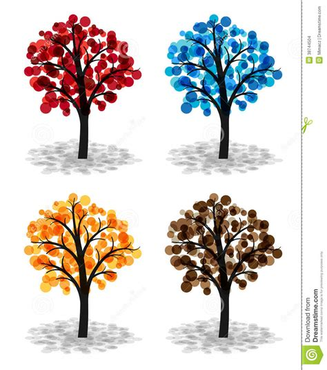 different color trees colorful trees stock images image 38744504