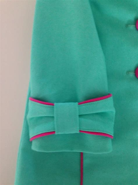 kurti sleeves pattern piping bow turquoise pink manteltje jackie clothes