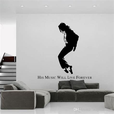 michael jackson wall stickers michael jackson black portrait wall stickers mj silhouette