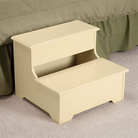Wooden Step Stool With Storage wooden storage step stool wooden step stool easy comforts