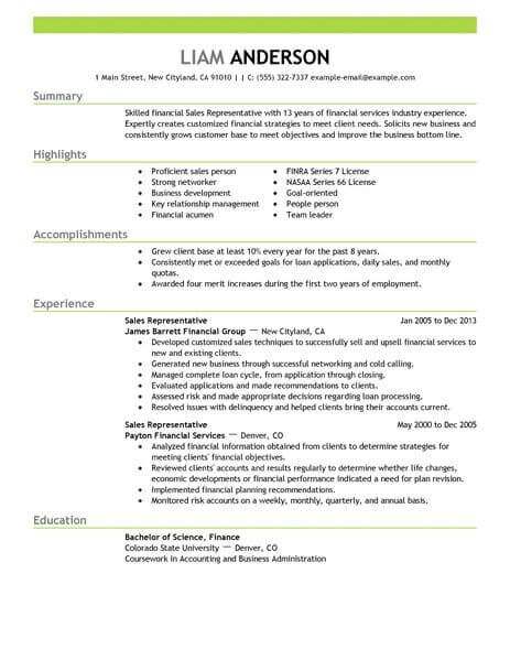 best resume format for representative best sales representative resume exle livecareer