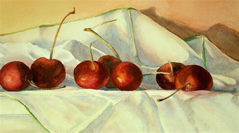 cherries jubilee painting by vikki bouffard