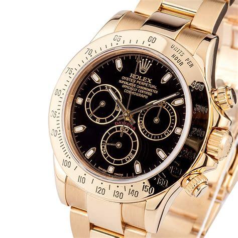 Rolex Black Gold rolex daytona 18k yellow gold black save 1 000 s