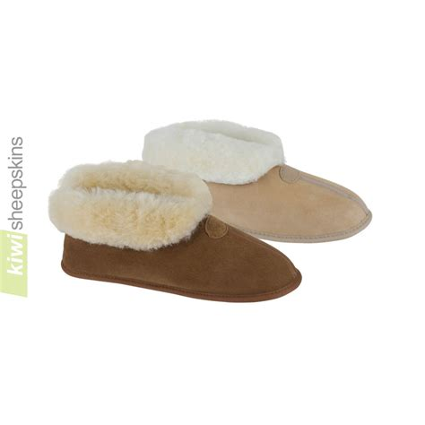 soft house shoes bootie slipper indoor soft sole sheepskin slippers kiwi sheepskins