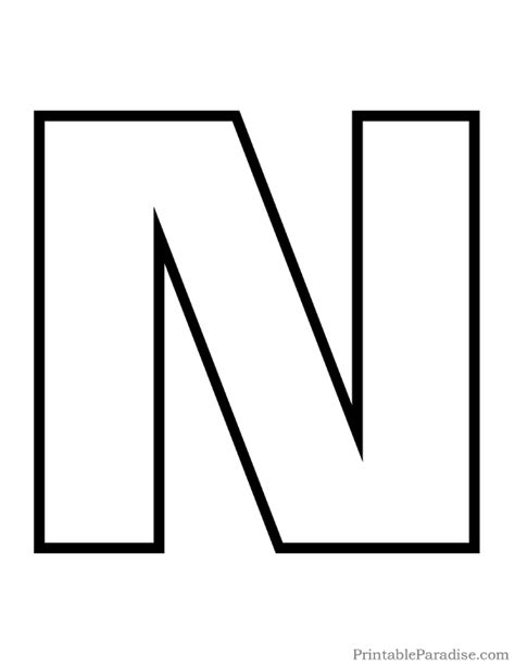 letter n pattern use the printable outline for crafts printable letter n outline print bubble letter n