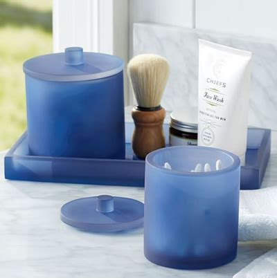 Serra Navy Blue Bath Accessories Decor By Color Navy Blue Bathroom Accessories