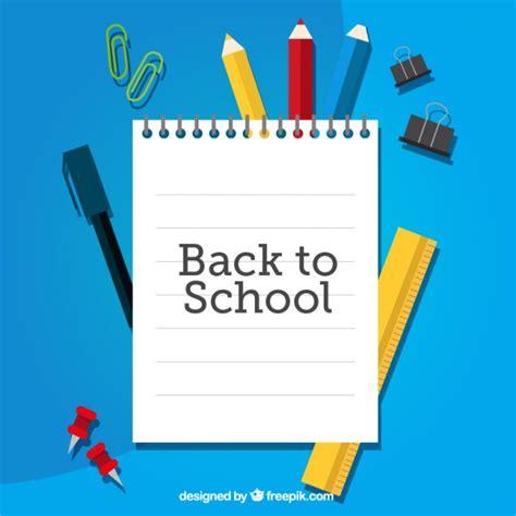 Back To School Card Template by Cuaderno Para La Vuelta Al Colegio Sobre Material Escolar