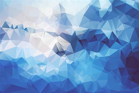 wallpaper blue geometric low poly abstract blue digital art artwork