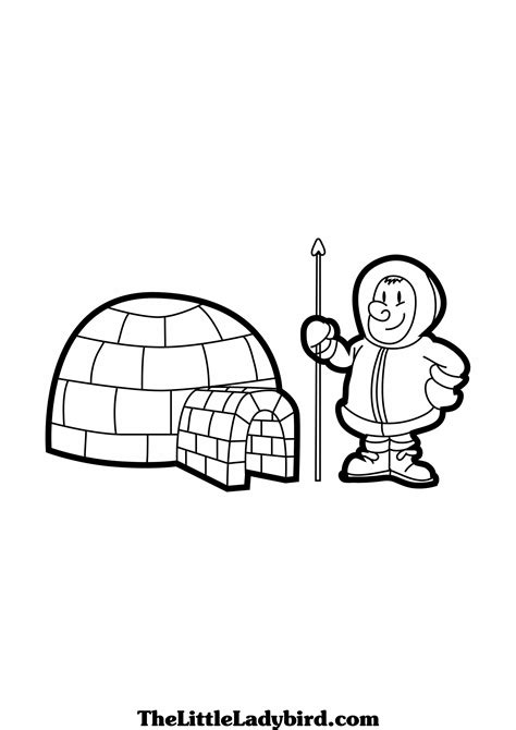 eskimo igloo coloring page best photos of igloo coloring pages printable igloo
