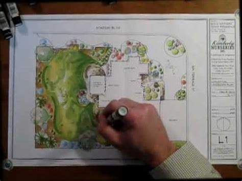Floor Plan Rendering Techniques by Landscape Design Color Rendering Youtube