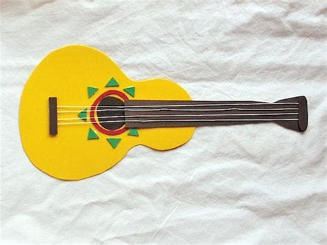 Paper Guitar Craft - paper guitar craft cincodemayo holidays for